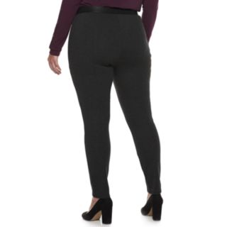 Plus Size Jennifer Lopez Seamed MidRise Ponte Leggings