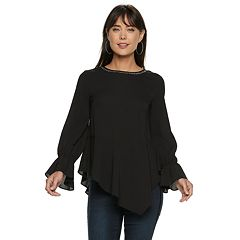 Women's Juicy Couture Asymmetrical Georgette Top