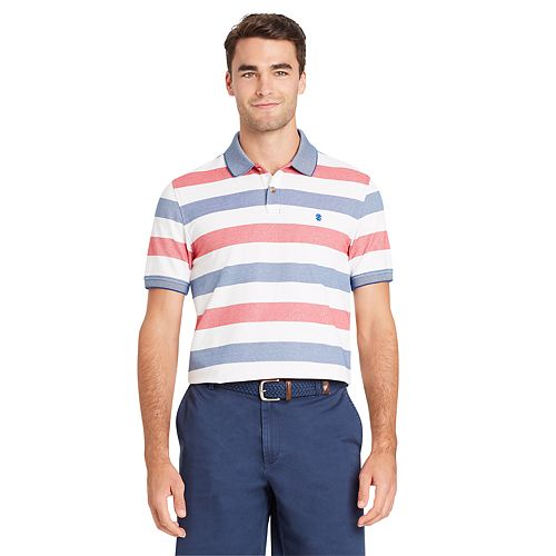 Men's IZOD Advantage SportFlex Slim-Fit Striped Performance Polo