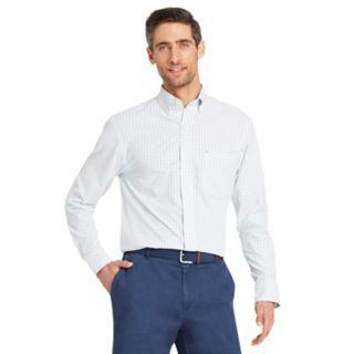 Men's IZOD Slim-Fit Essential Gingham Plaid Button-Down Shirt