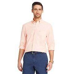 Men's IZOD Slim-Fit Essential Gingham Plaid Button-Down Shirt