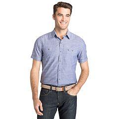 Men's IZOD Slim-Fit Chambray Button-Down Shirt