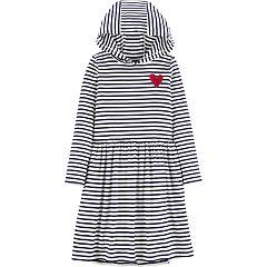 Girls 4-14 Carter's Striped Hooded Dress
