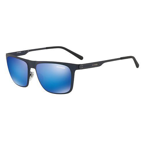 Arnette Back Side AN3076 56mm Rectangle Mirrored Sunglasses