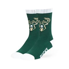 Adult 47 Brand Milwaukee Bucks Colorblocked Crew Sock