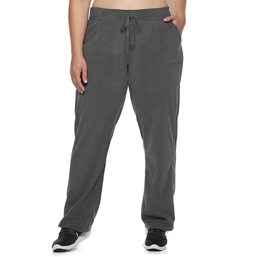 Plus Size Tek Gear® Mid-Rise Microfleece Pants