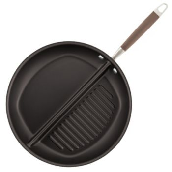 Anolon Advanced Bronze Hard-Anodized Nonstick Divided Grill & Griddle Skillet Pan