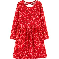 Girls 4-14 Carter's Heart Cut-Out Back Dress