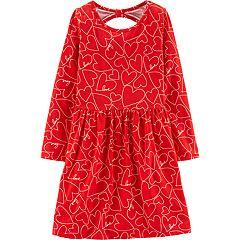 Girls 4-14 Carter's Heart Cut-Out Back Dress