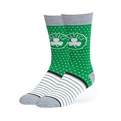 Adult 47 Brand Boston Celtics Dot & Striped Crew Sock