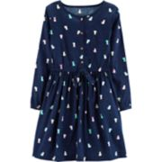 Girls 4-14 Carter's Cat Henley Dress