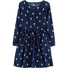 Girls 4-14 Carter's Cat Henley Dress