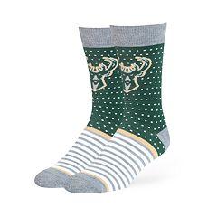 Adult 47 Brand Milwaukee Bucks Dot & Striped Crew Sock