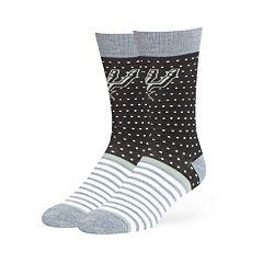 Adult 47 Brand San Antonio Spurs Dot & Striped Crew Sock