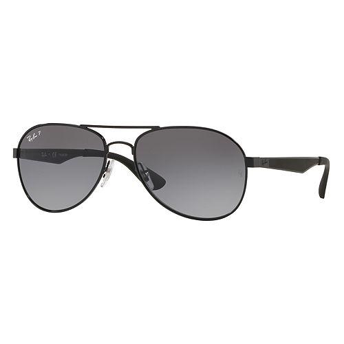 Ray-Ban RB3549 61mm Aviator Gradient Polarized Sunglasses