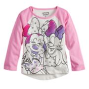Disney's Minnie Mouse & Daisy Duck Glitter Graphic Raglan Tee by Jumping Beans®