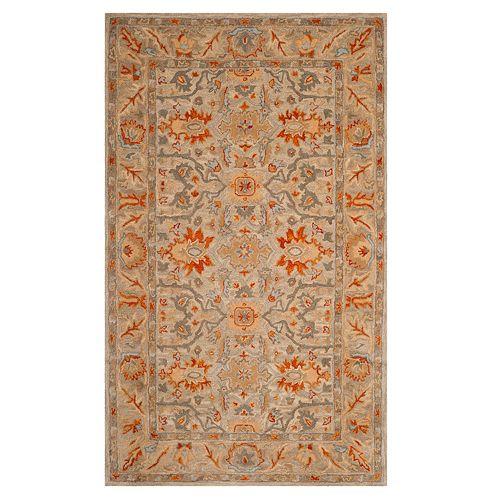 Safavieh Antiquity Amber Framed Floral Wool Rug