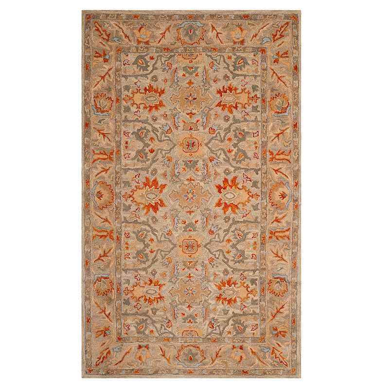 Safavieh Antiquity Amber Framed Floral Wool Rug, Beig/Green, 8X10 Ft Product Image