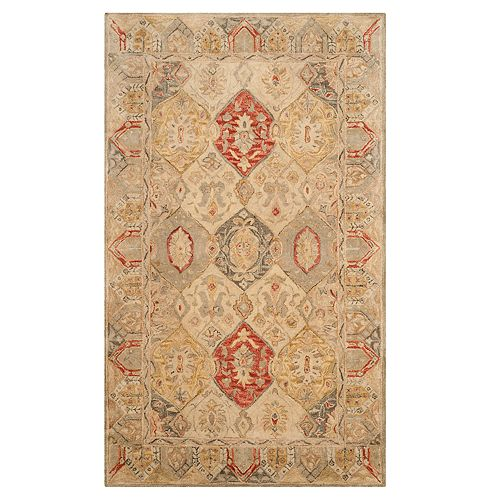 Safavieh Antiquity Victoria Framed Floral Wool Rug