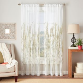 Fields of Meadow 1-Panel Tailored Voile Window Curtain