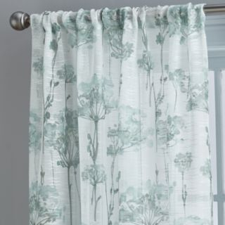 Floral Bella 1-Panel Sheer Textured Window Curtain