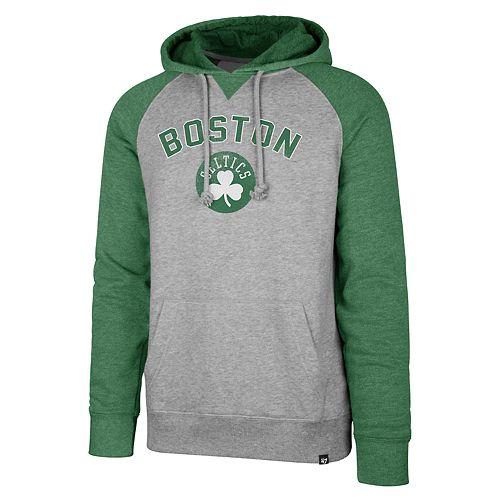 Men's '47 Brand Boston Celtics Match Blend Raglan Hoodie