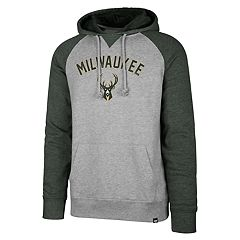 Men's '47 Brand Milwaukee Bucks Match Blend Raglan Hoodie