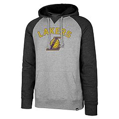 Men's '47 Brand Los Angeles Lakers Match Blend Raglan Hoodie