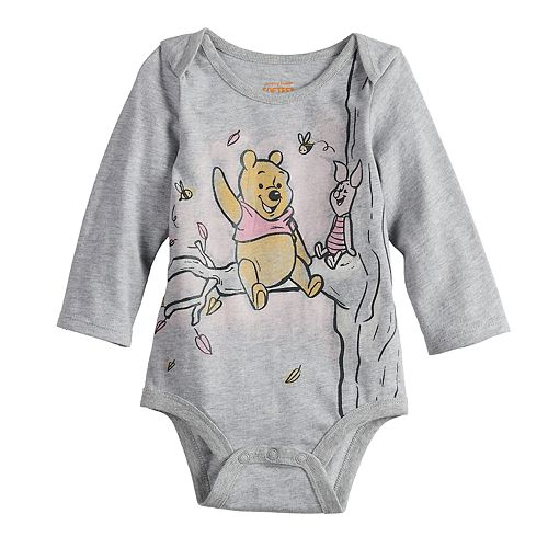 Disney's Winnie The Pooh & Piglet Baby Girl Graphic Bodysuit by Jumping Beans®