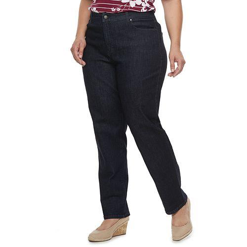 Plus Size Croft & Barrow® Classic Tummy Control Straight-Leg Jeans