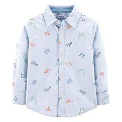 Toddler Boy Carter's Dinosaur Oxford Button Down Shirt