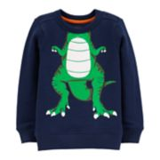 Toddler Boy Carter's Dinosaur Character Pullover Top