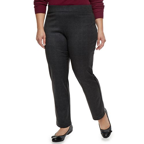 Plus Size Croft & Barrow® Easy Care Straight-Leg Ponte Pants