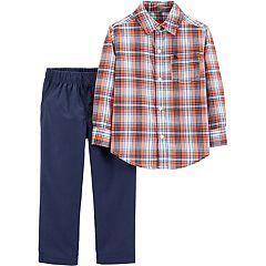 Baby Boy Carter's Plaid Top & Pants Set