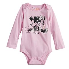 Disney's Mickey Mouse & Minnie Mouse Baby Girl Graphic Bodysuit by Jumping Beans®