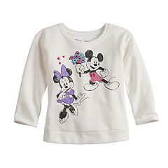Disney's Mickey & Minnie Mouse Baby Girl Fleece Long-Sleeve Tee by Jumping Beans®