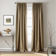 Window Curtainworks 1-Panel Textured Hollister Room Darkening Window Curtain