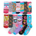Girls 4-16 Pink Cookie 12 Days of Socks Advent Calendar