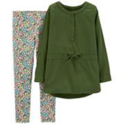 Girls 4-8 Carter's Henley Tunic & Floral Leggings Set