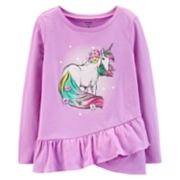 Girls 4-14 Carter's Unicorn Ruffled-Hem Tee