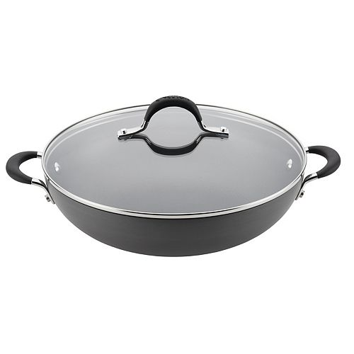 Circulon Momentum Hard-Anodized Nonstick Covered Wok