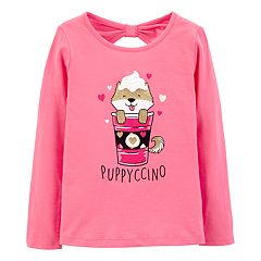 Girls 4-14 Carter's Glittery 'Puppyccino' Graphic Tee