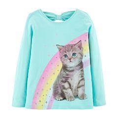Girls 4-14 Carter's Rainbow Cat Tee