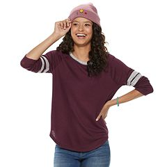 Juniors' SO® Long Sleeve Varsity Tee