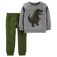 Baby Boy Carter's Dinosaur Pullover Top & Printed Jogger Pants Set