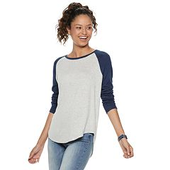 Juniors' SO® Long Sleeve Baseball Tee