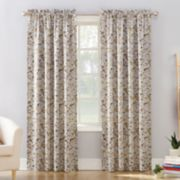 Sun Zero 1-Panel Isabella Floral Print Room Darkening Curtain