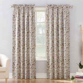 Sun Zero 1-Panel Isabella Floral Print Room Darkening Curtain