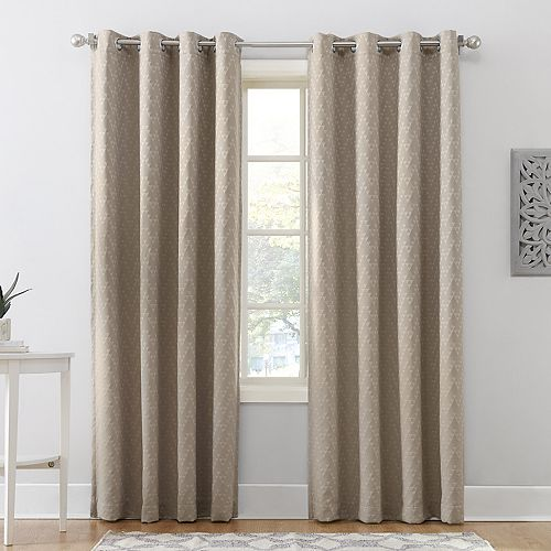 Sun Zero Blackout 1-Panel Corinne Lined Curtain
