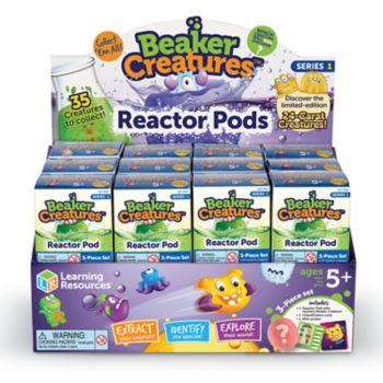 Learning Resources Beaker Creatures 24-Piece Reactor Pods Set